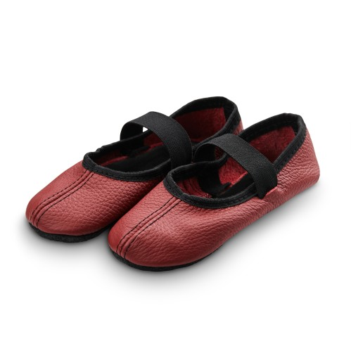 Dance slippers (wine red)