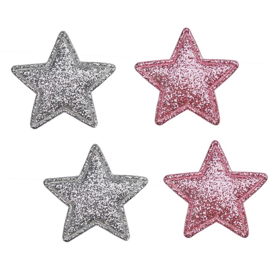 Šokių tapkutės su blizgiomis žvaigždelėmis, baltos spalvos